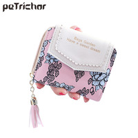 2017 Hot Top Quality Womens Wallet PU Leather Flower Tassels Vintage Women S Money Bag Card