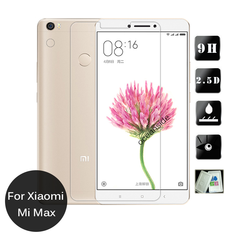 For Xiaomi Mi Max Tempered Glass screen Protector 2.5 9h Safety Protective Film on Mimax Prime Dual Sim