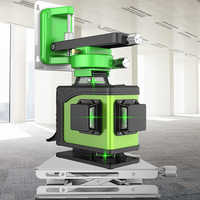 Nouveau niveau laser 4D 16 lignes 360 niveau Laser Vertical et Horizontal niveau Laser auto-nivellement ligne transversale 4D niveau laser vert avec extérieur