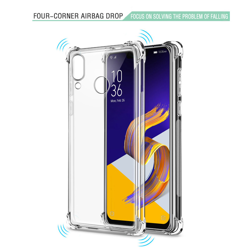 Shockproof Case For Asus Zenofne Max Pro M1 M2 ZB601KL ZB633KL ZB631KL Live L1 ZA550KL Cases Silicone Cover ZenFone 5z ZS620KL in Fitted Cases from Cellphones Telecommunications