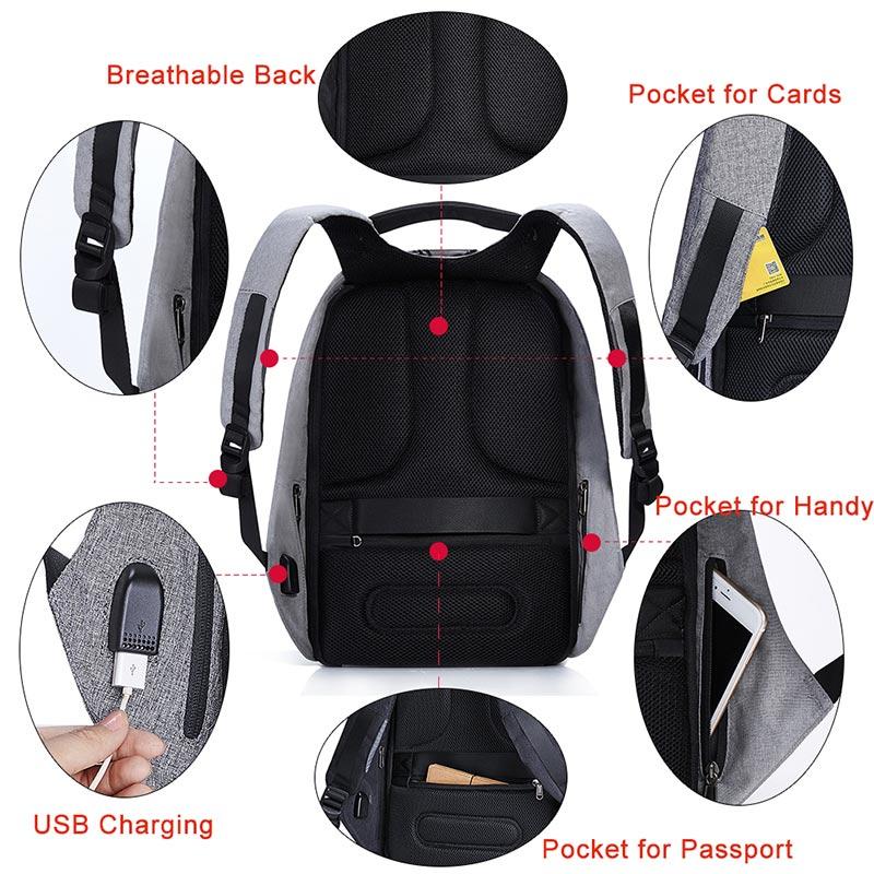 KALIDI bärväska USB-laddare till MacBook 13 15 tums bärbar väska - Laptop-tillbehör - Foto 5