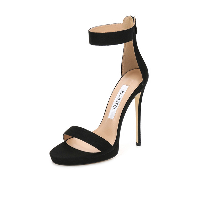 5877d582314726 Open Toe Stiletto Sexy High Heels Fetish Black Designer Sandals Women  Luxury 2018 Pumps Shoes Satin Genuine Leather Ankle Strap