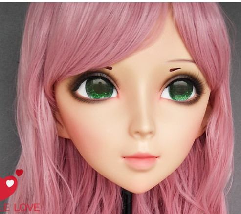 dm169 Kids Costumes & Accessories Lovely Sweet Girl Resin Half Head Kigurumi Mask With Bjd Eyes Cosplay Japanese Anime Role Lolita Mask Crossdress Doll Soft And Light Costumes & Accessories