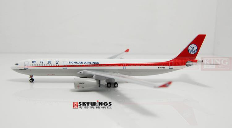 Aeroclassics Sichuan Airlines B-5923 1:400 A330-300 commercial jetliners plane model hobby spike wings xx4502 jc turkey airlines b777 300er san francisco 1 400 commercial jetliners plane model hobby