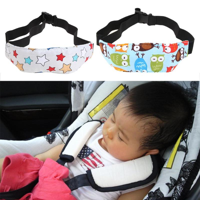 New Car Pillows Safety Car Seat Sleep Nap Head Band Children Head Protection Baby Chair Headrest Sleeping Support Holder Belt image