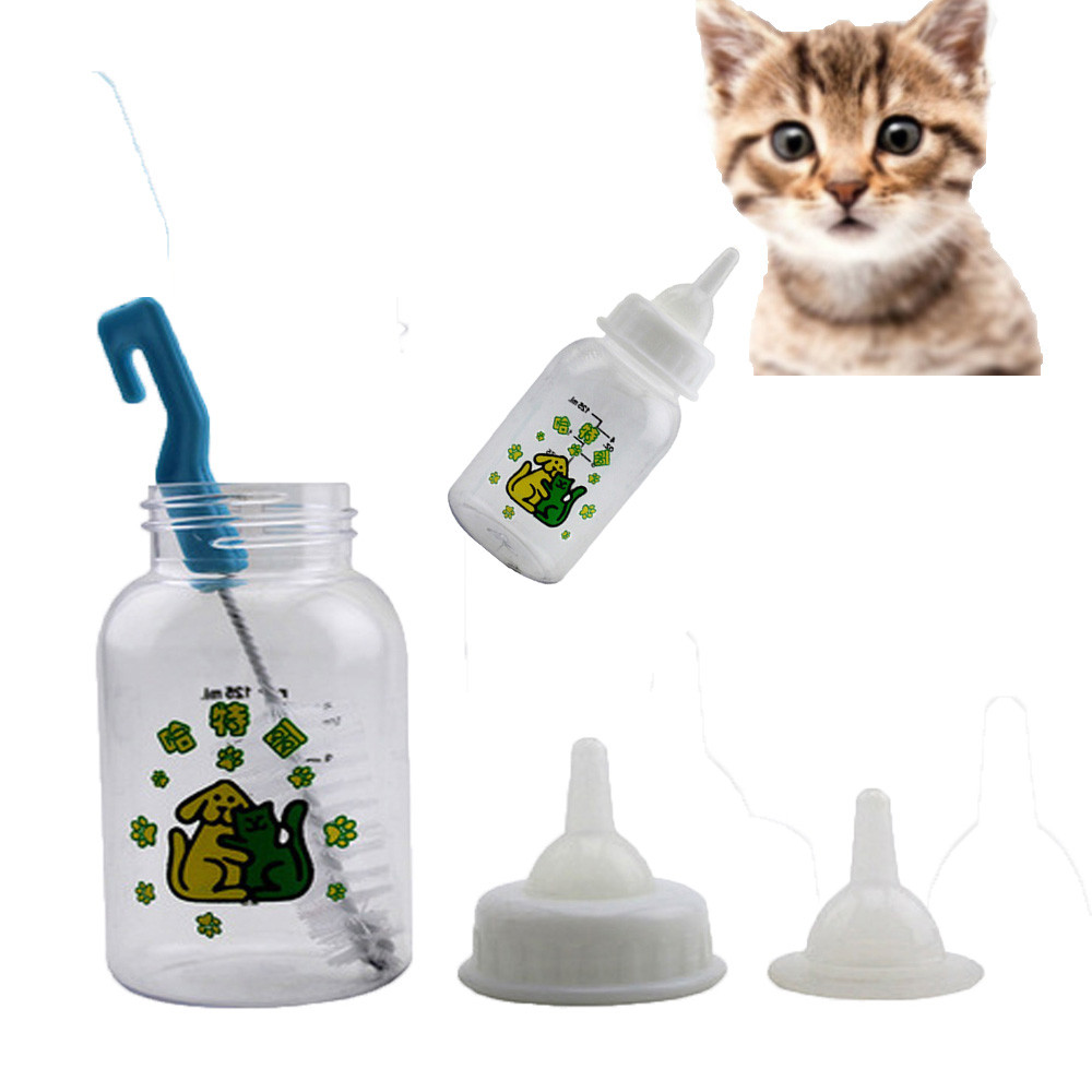 2018 TOP CUTE Cat Dog Milk Bottle Pet Puppy Kitten Baby Animal Feeding Bottle Nursing Set 0430