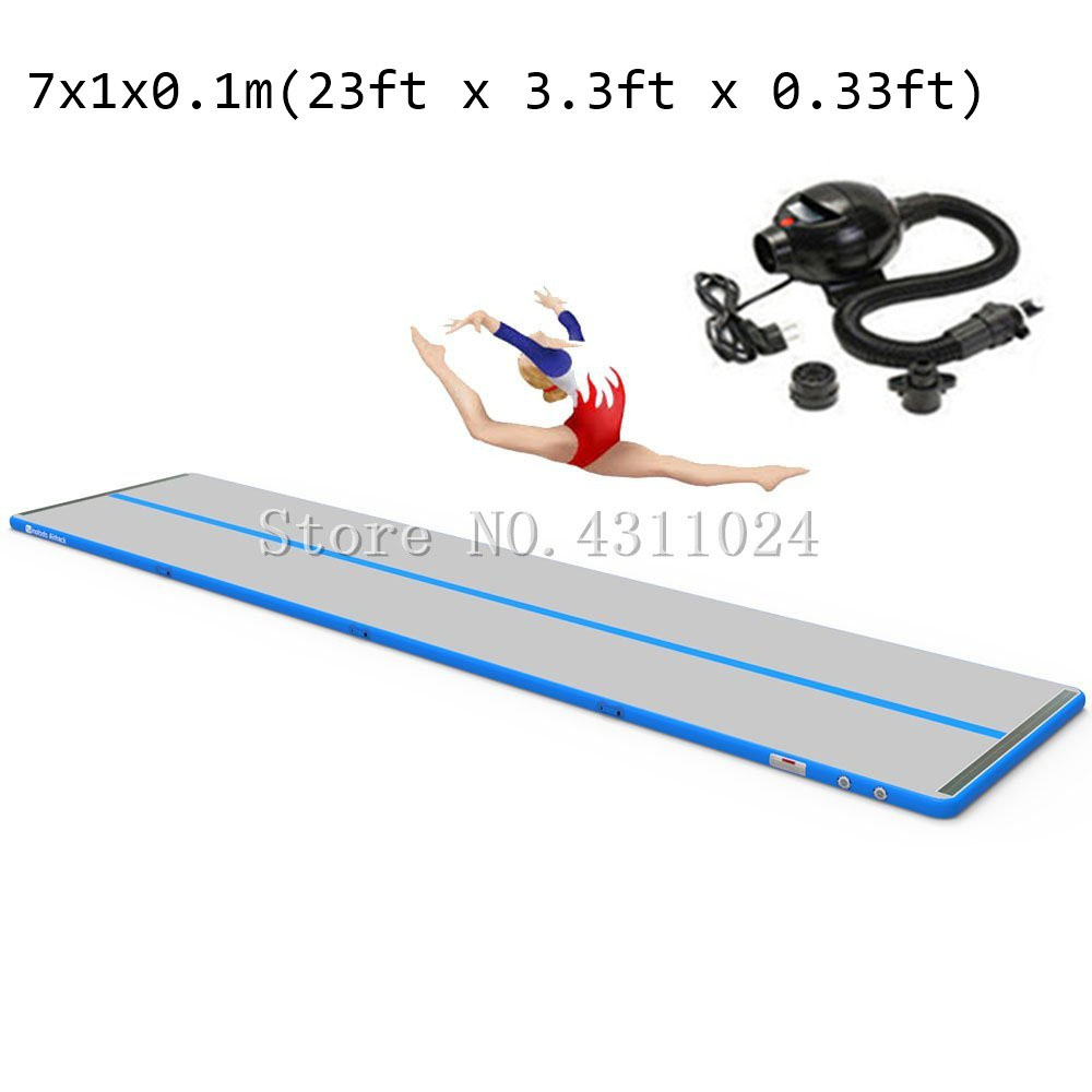 Inflatable GYM Mat Home Air Floor Inflatable Tumbling Mat for Gymnastics Inflatable Air Track 7m x1m x10cm With a PumpInflatable GYM Mat Home Air Floor Inflatable Tumbling Mat for Gymnastics Inflatable Air Track 7m x1m x10cm With a Pump