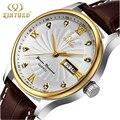 Mens Relojes de Primeras Marcas de Lujo hombres Reloj de Cuarzo ocasional Impermeable Relojes Deportivos Militar Hombres de Cuero Relogio masculino Kinyued