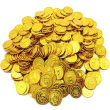 100 шт./компл. пиратский костюм для детей сокровище игрушки охоти игра пиратский Реквизит Золотая монета серебряная монета медная монета игрушки