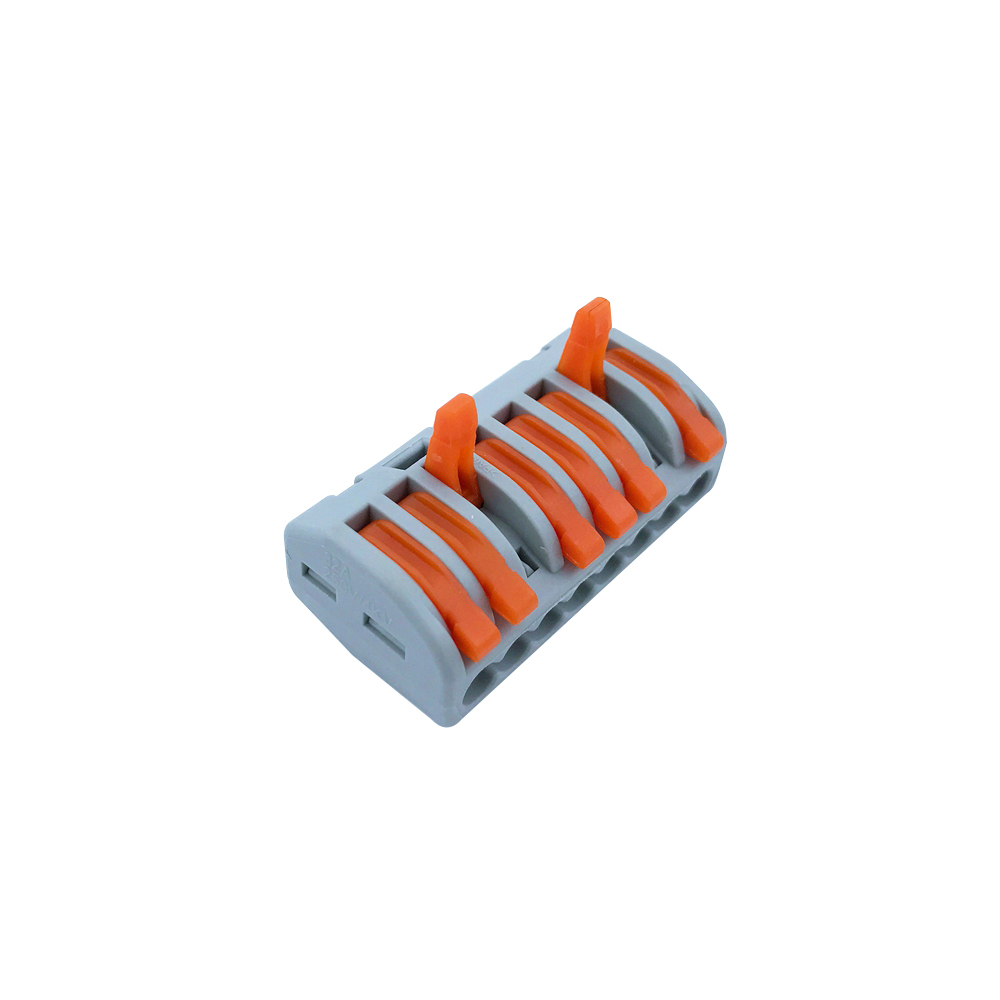 Wago Wire Connector 222-418 10PCS Lucency Cage Spring Universal Fast Wiring Conductors Terminal Block High Quality China