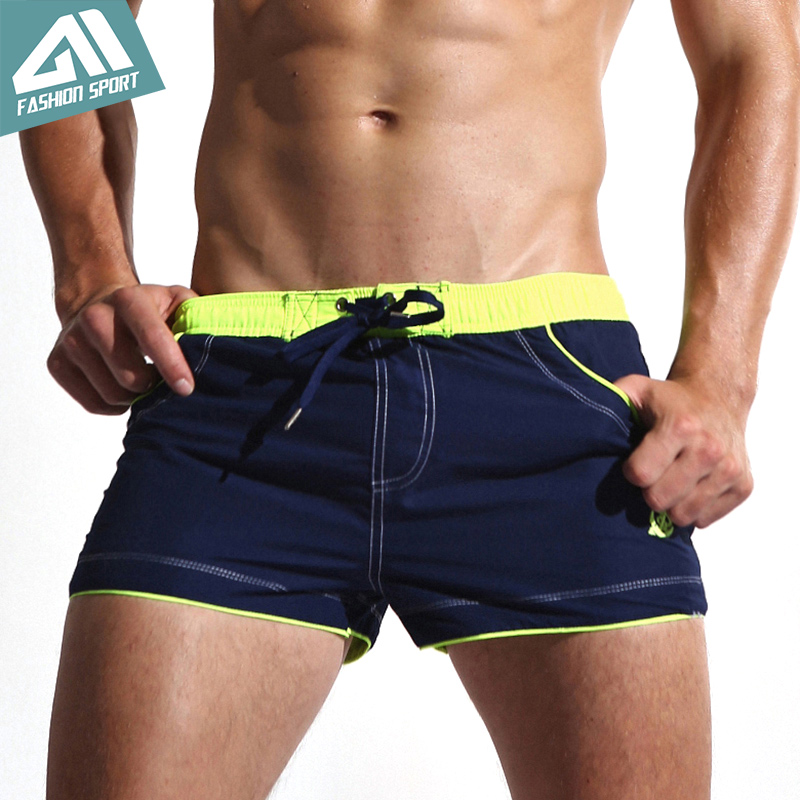 New Men's Swim Shorts Quick Dry Beach Shorts Lining Liner Sport Summer Men's Board Shorts Surf Swimwear Sea Shorts Male AC429