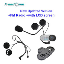 FreedConn TCOM SC W Screen Bluetooth Helmet Intercom Headset Extra Soft Earpiece Extra Bracket Free Shipping