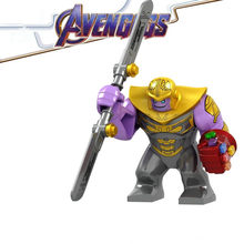 2019 Marvel Avengers:Endgame Super Heroes Thanos Iron Man Infinite Gloves Building Blocks Bricks Action For Children Toys Gift(China)