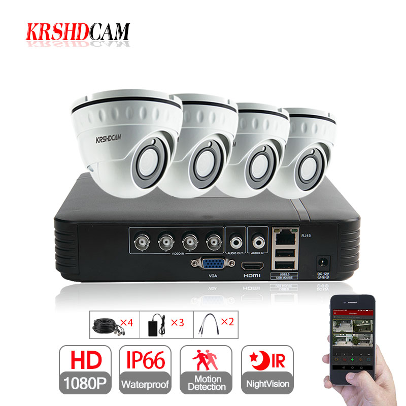 352313287 1080 4CH العهد فيديو مسجل مجموعات AHD-H كامل HD 2.0MP سوني 323 CCTV الأمن  داخلي الاستشعار قبة كاميرا p2p نظام مراقبة
