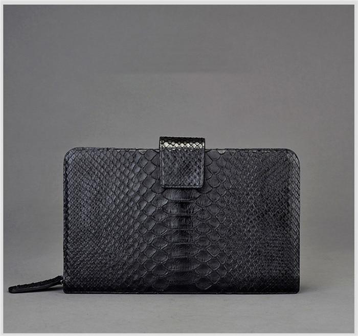 0a0fb9cf1d4 Jranter luxury fashion genuine python snakeskin men clutch wallet ...