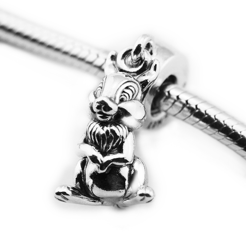Pandora Jewelry Free Shipping: Fits For Pandora Charms Bracelets Rabbit Beads 100% 925