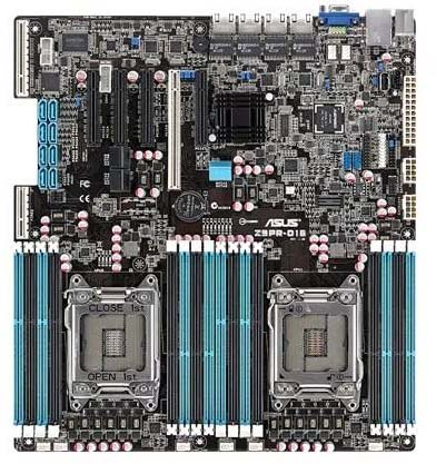 ASUS Z9PR-D16 X79 Two-way Server Host Rendering Game Multi-open Support E5-2680V2 Used 90% New