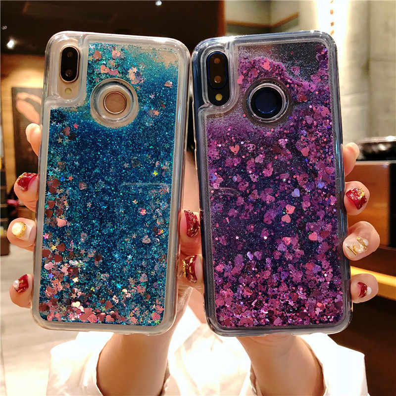 Dynamic Liquid Quicksand Silicone Case For Huawei P20 Pro P10 Lite Mate 20 Nova 3 Mate 10 9 Honor 8X 7X 6X 5X 7A 6A 7C Cover