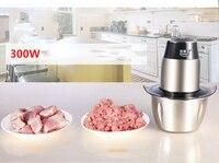 Domicílios mini multi funcional de aço inoxidável moedor de carne elétrico máquina de moer carne|Acessórios para ferramenta elétrica| |  -
