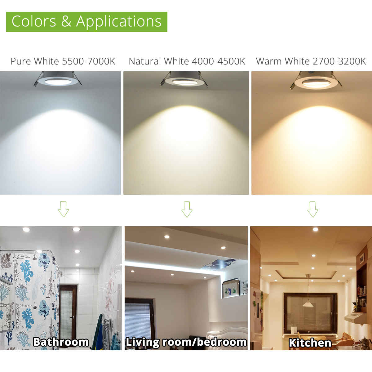 50 st / lot Ny 2015 3W 4W 5W Dimmbar led downlight AC 120V 220V - Inomhusbelysning - Foto 4
