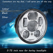 Motos Accessories 5 75 headlight motorcycle 5 3 4 led headlight for Harley 5 3 4