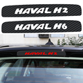 The Carbon Fiber Car Stickers Of High Brake Lights For Great Wall Haval H2 H6 Additional Brake Light Sticker Car Styling