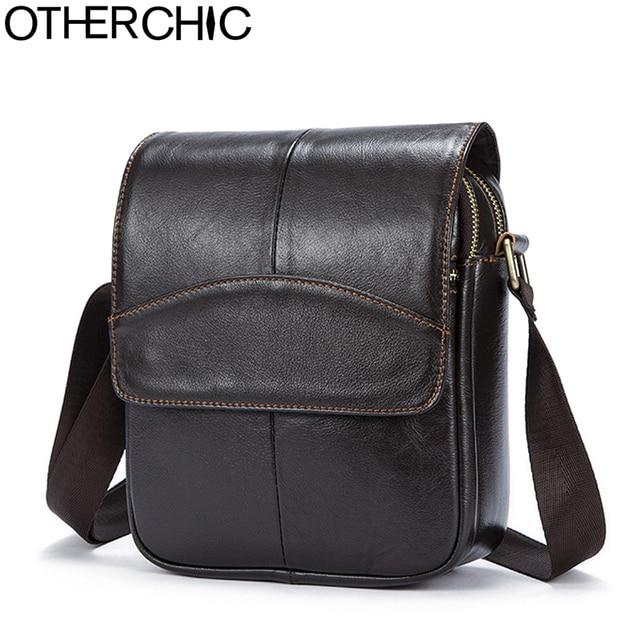 09606e607e3b OTHERCHIC Genuine Leather Bags Men Quality Messenger Bags Small Roomy Travel  Bag Vintage Crossbody Shoulder Bag For Men 7N04-40