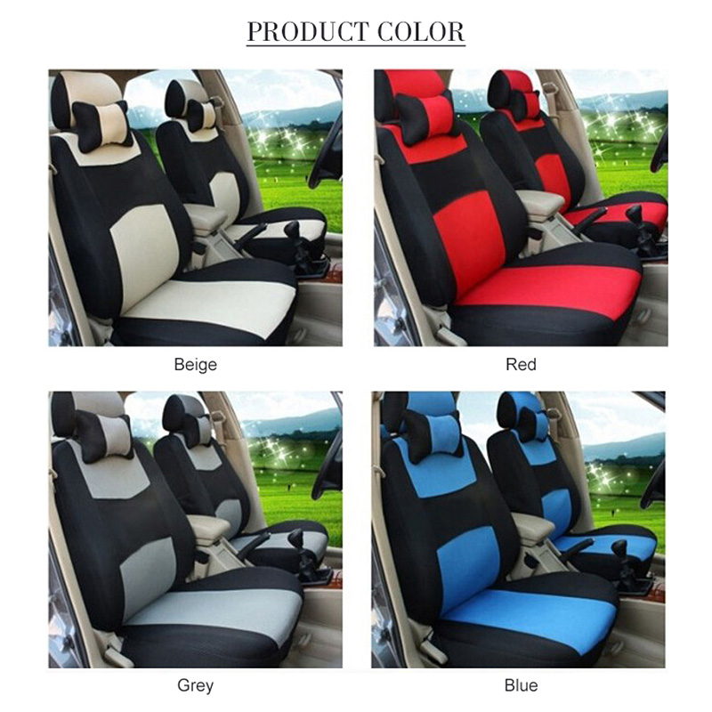 Image 3 - O SHI CAR Breathable Car Seat Cover Sandwich Mesh Material Four Seasons Universal Five seater Auto Covers Pad for Most Cars-in Automobiles Seat Covers from Automobiles & Motorcycles