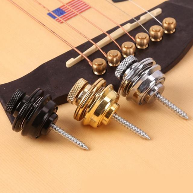 Guitar Strap Lock Button