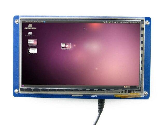 Жк-Дисплей 7 дюймовый Емкостный Сенсорный ЖК-Модуль 800*480 Многоцветный Графический ЖК-ДИСПЛЕЙ, экран TTL TFT LCM