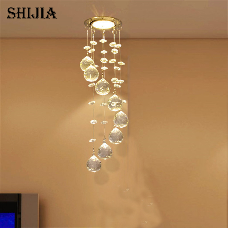 Modern Crystal Ceiling Light Fixture Spiral Crystal Lamp