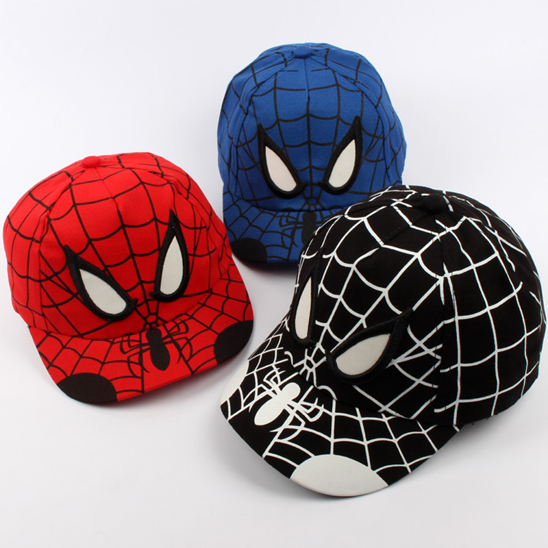New Quality Baby Boys Girls Snapback Hats Children Spiderman Cartoon Baseball Cap Kids Cartoon Hip Hop Hat For 3-10 Years Old wool 2 pieces set kids winter hat scarves for girls boys pom poms beanies kids fur cap knitted hats