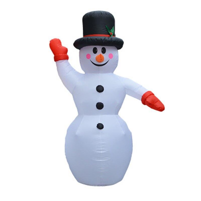 Aufblasbare Weihnachtsmann Weihnachtsdekoration Für Hotels Abendessen Markt Aufblasbare Schneemann Blow Up Weihnachten Ornamente Neues Jahr dekor - 2