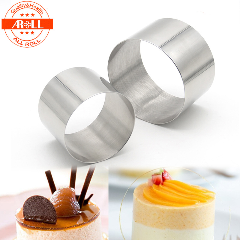 New Small Mini Round Cake Mousse Ring Mold Mould Stainless