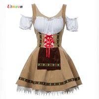 UTMEON S 4XL Sexy Beer Girl Costume Maid Wench Bavarian Fancy Dress Dirndl For Adult Women Oktoberfest Costume