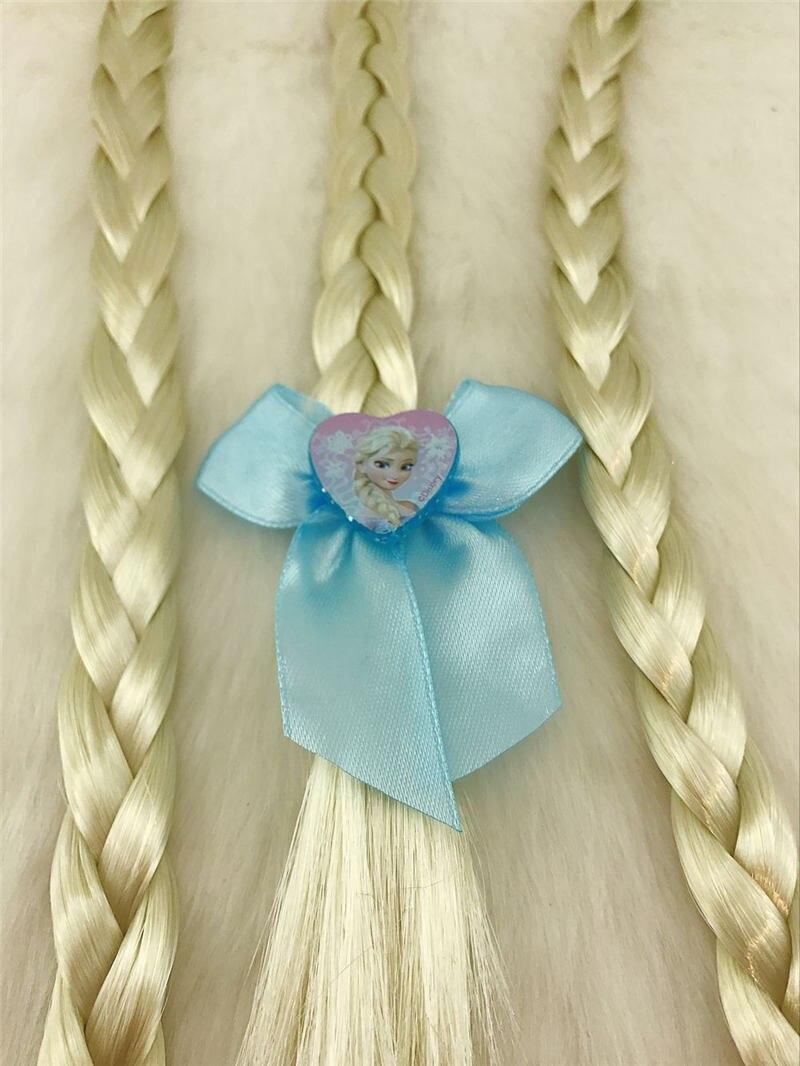 2 pièces/lot Disney reine des neiges accessoires de poupée pour enfants perruque tresses Aisha princesse perruque corde élastiques (lot de 2)