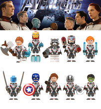Avengers 4 Endgame mini toy Thor Rocket Raccoon War Machine Black Widow Nebula fit legoings marvel figures Building Block bricks