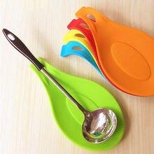 אקראי צבע רב מחצלת מטבח כלים סיליקון מחצלת בידוד מפית חום עמיד לשים כפית cozinha אבזרים