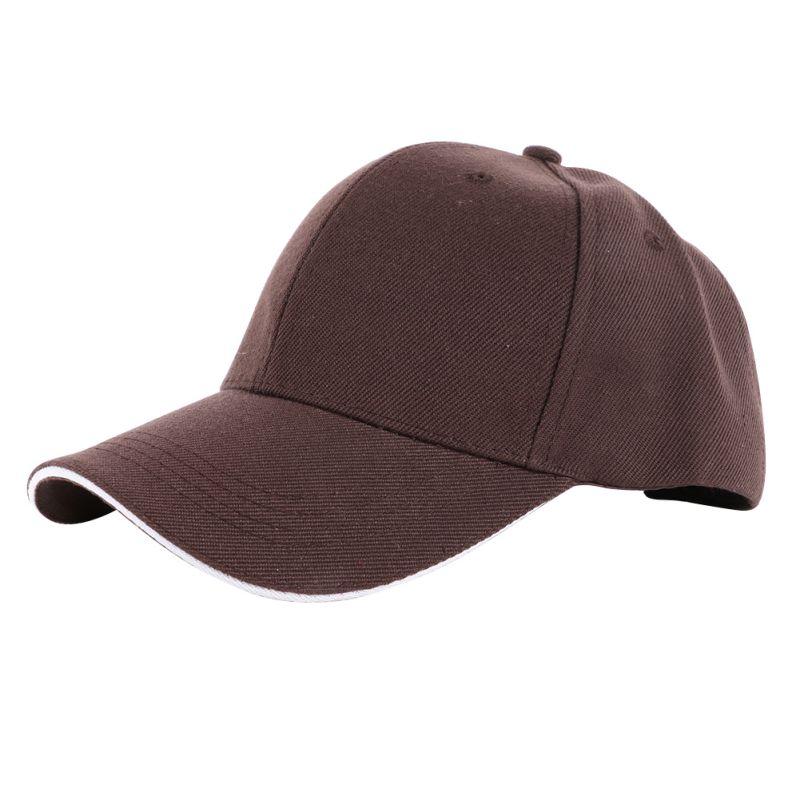 Men Women Blank Plain Baseball Cap Curved Sports Visor Sun Golf Hat Adjustable Sunmer Hat Sports Running Caps