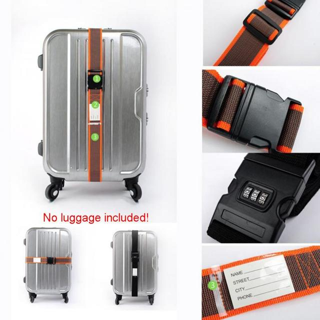Useful Travel Luggage Suitcase Strap Baggage Backpack Safe Belt with Secure Coded Lock