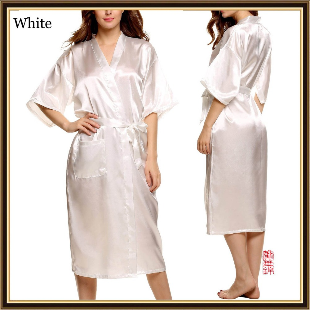 7c09f180006 3XL Big Size Silk Robes For Women Bathrobe Satin Robe Sexy Kimono Robes  Dressing Gowns For Women Robe Bathrobes Peignoir Femme -in Robes from  Underwear ...