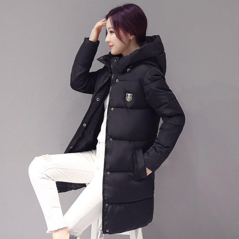 Winter Fashion Women Duck   Down     Coat   Outerwear Parka Warm   Coats   Long Sleeve Hooded Jackets Slim Casual Autumn Parka   Coat   Feminino