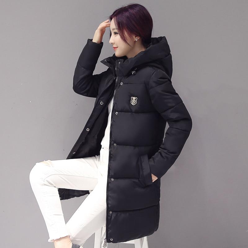 Winter Fashion Women Duck   Down     Coat   Outerwear Parka Warm   Coats   Long Sleeve Hooded Jackets Slim Casual Autumn Parka   Coat   Feminino