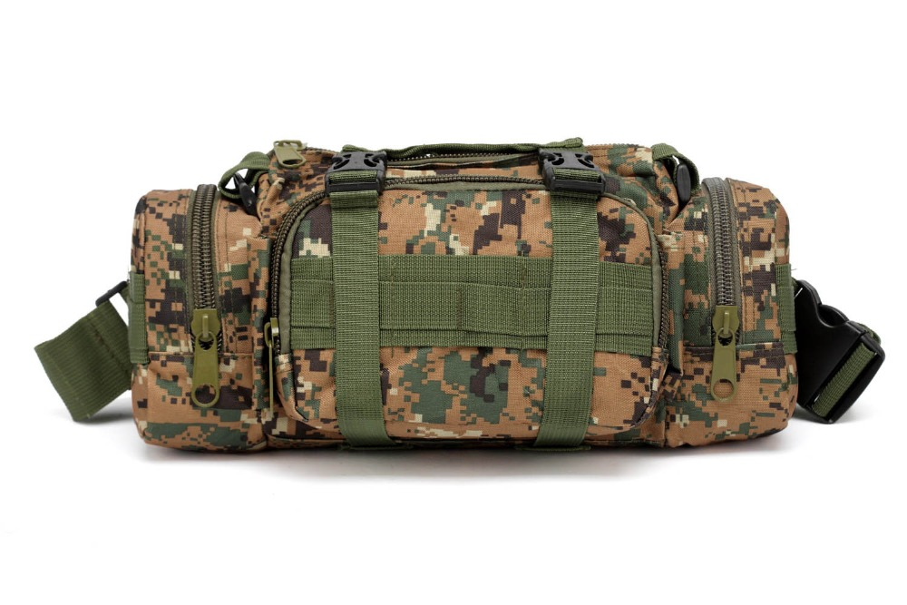 Green Camouflage Tactical Bag Sport Bags Military Waist Pack Shoulder Molle Camping Climbing Hiking Pouch Outdoor First Aid Kit