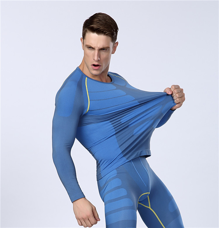 Men s SLIM Long Sleeve T shirt Sport Slimming Underwear men s Body Shaper  Quick dry Compression T shirts-in Running T-Shirts from Sports    Entertainment on ... 22d6c2d6f