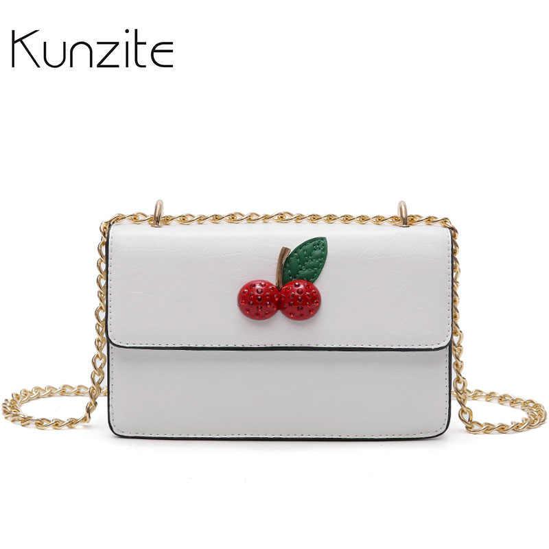 Kunzite Вишневый Дизайн мини пляжная сумка летняя женская кожаная сумка-мессенджер для женщин 2018 роскошные сумки женская сумка дизайнерский клатч