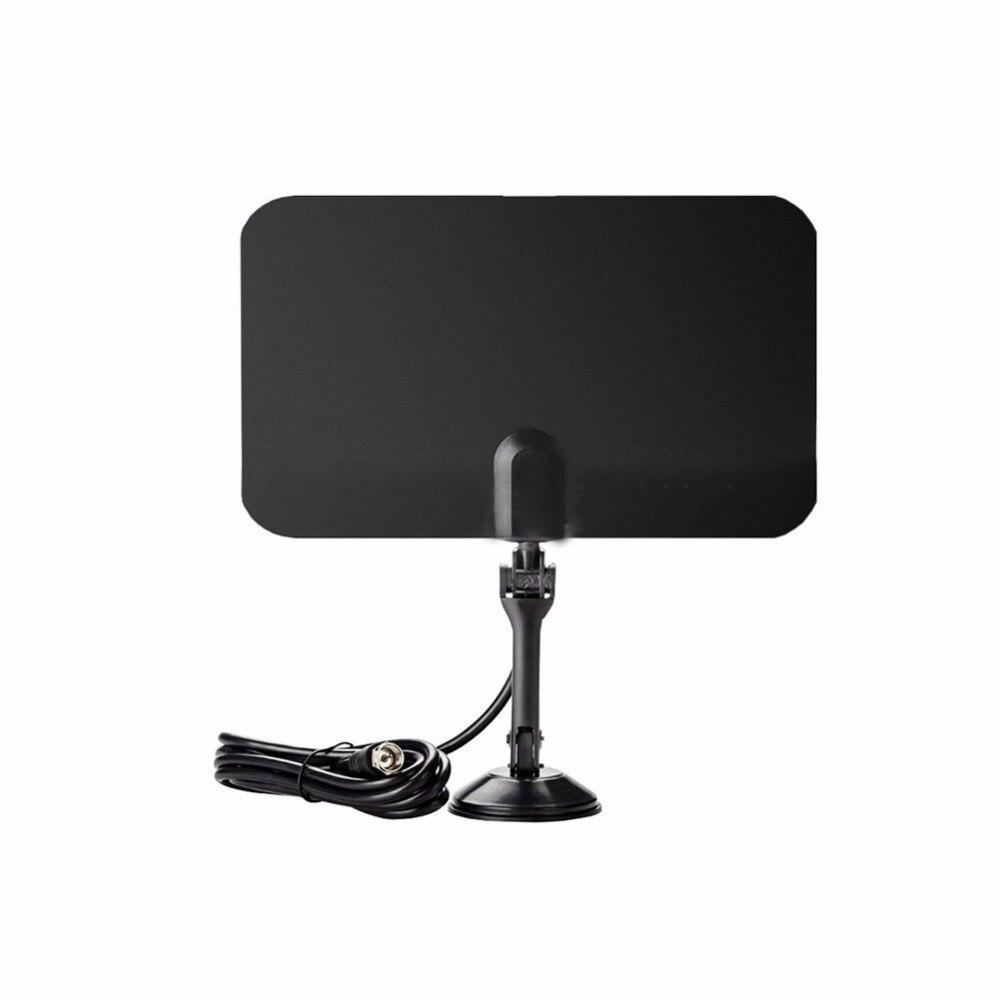 CHAUDE Noir Mince Plat Antenne Intérieure HD Haute Def TV Fox Scout HDTV VHF UHF DTV TVScout TVFox ATSC Récepteur Pour US UE UA