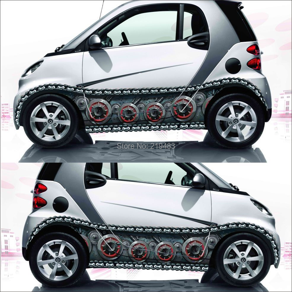 Car full body sticker design - Aliexpress Com Buy 2pcs Waterproof Inkjet 3d World Of Tanks Track Stickers Exterior Accessories Sticker On Car Styling Car Body Sticker Design From