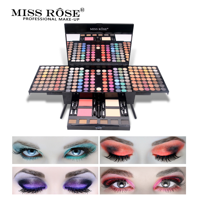 MISS ROSE Shimmer Matte Eyeshadow Pallete Set Glitter Eye Shadow Palette Beauty Tool Long Lasting Professional Make Up Cosmetics bask compression bag m