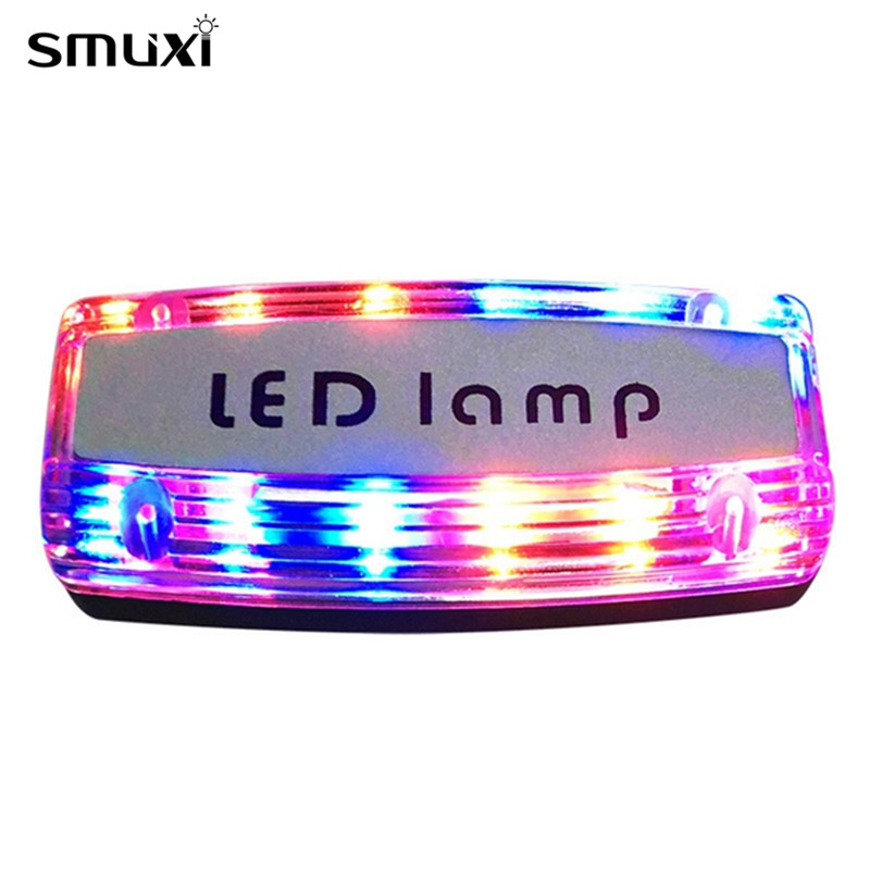 Smuxi Night Light USB Charging Blue Red LED Flashing Shoulder Light Traffic Warning Signal Lamp Party Atmosphere Lamp Led Lights